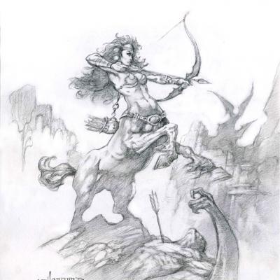 Centaur with bow