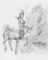 femme centaure