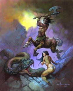 Centaure et serpent