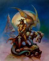 guerrier et dragon