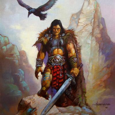 guerrier au corbeau
