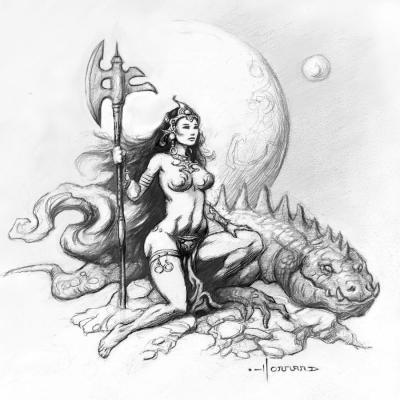 Princesse et dragon