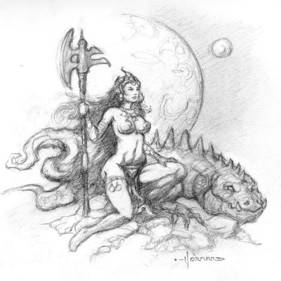 Princesse et dragon